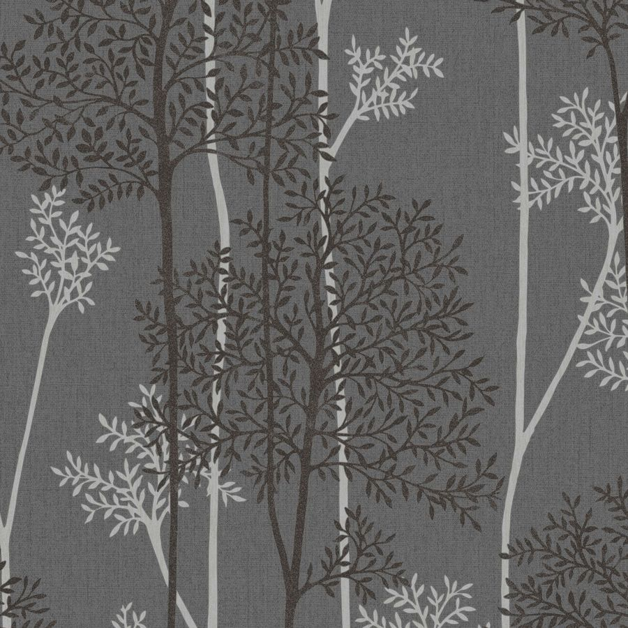 Graham & Brown Charcoal/Silver Strippable Non-Woven Paper Unpasted Textured Wallpaper