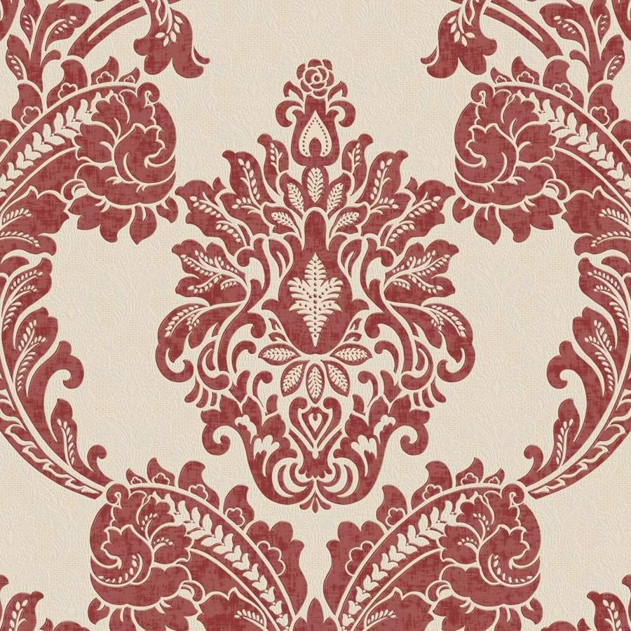 Graham & Brown Red Peelable Vinyl Unpasted Textured Wallpaper