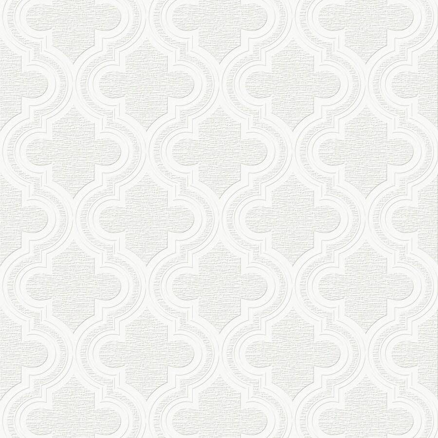 Graham & Brown White Peelable Vinyl Unpasted Paintable Wallpaper