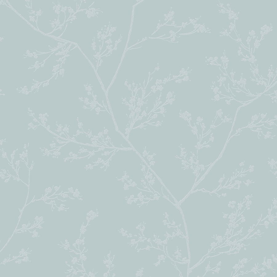 Graham & Brown Blue and Gray Strippable Non-Woven Paper Unpasted Textured Wallpaper