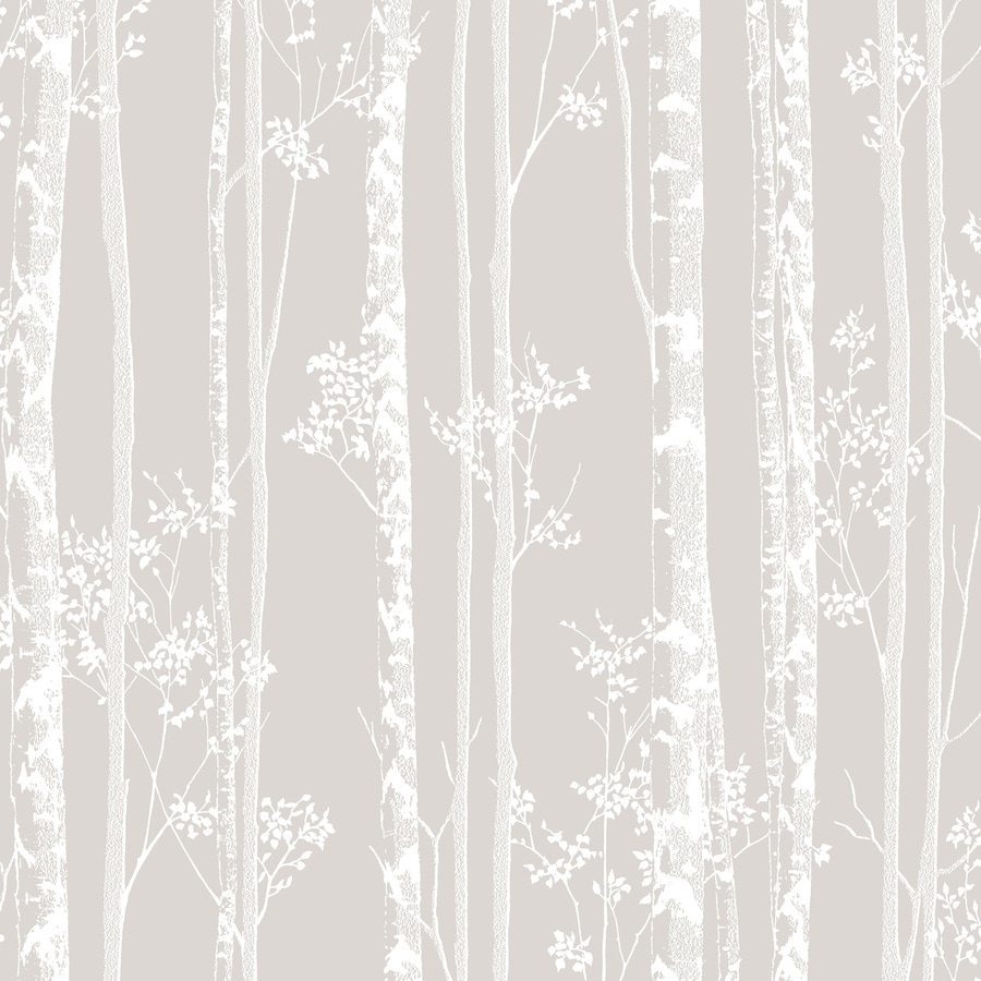 Graham & Brown Taupe and White Strippable Non-Woven Paper Unpasted Textured Wallpaper