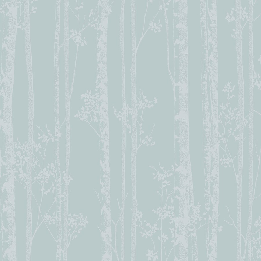 Graham & Brown Blue and White Strippable Non-Woven Paper Unpasted Textured Wallpaper