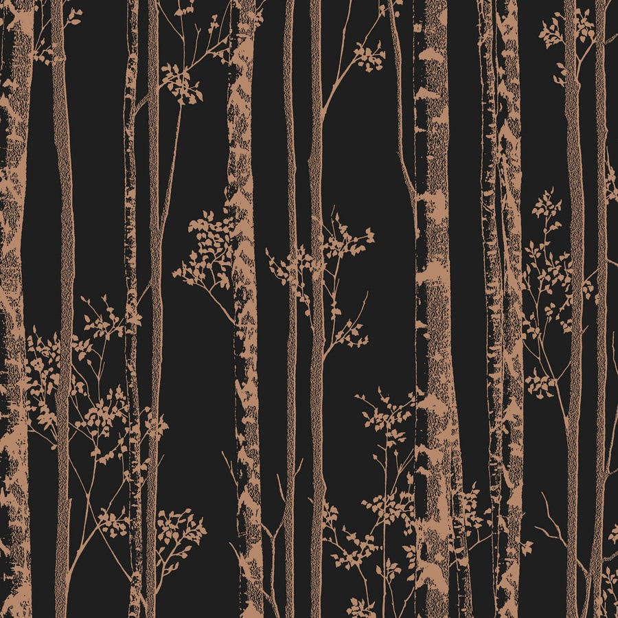 Graham & Brown Black and Copper Strippable Non-Woven Paper Unpasted Textured Wallpaper