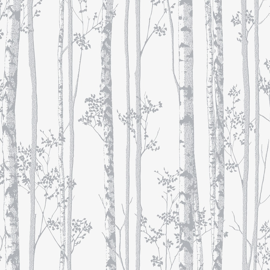 Graham & Brown Pearl and Gray Strippable Non-Woven Paper Unpasted Textured Wallpaper