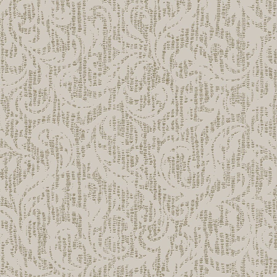 Graham & Brown Cream and Gold Peelable Vinyl Unpasted Textured Wallpaper