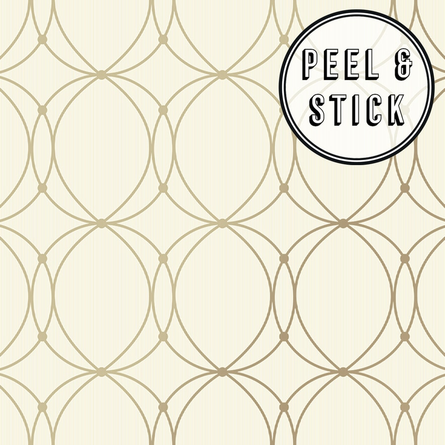 Transform Transform Gold Halo Peel And Stick Wallpaper In The Wallpaper Department At Lowes Com