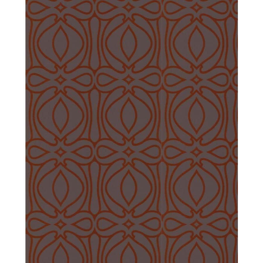 Graham & Brown Charcoal and Orange Strippable Non-Woven Paper Unpasted Textured Wallpaper