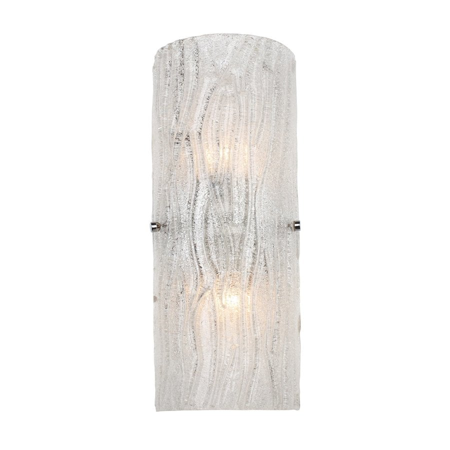 Alternating Current Brilliance 6.75-in W 1-Light Chrome/Bright Ice Pocket Wall Sconce