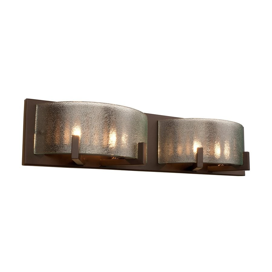 Shop Alternating Current Firefly 2 Light Warm Bronze Drum Vanity Light At Low