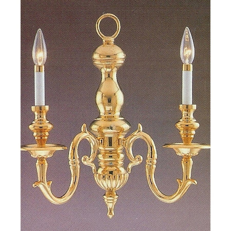 Candle Wall Sconces Lowes : Shop Weinstock Lighting 18-in W 2-Light Polished Brass Candle Hardwired Wall Sconce at Lowes.com
