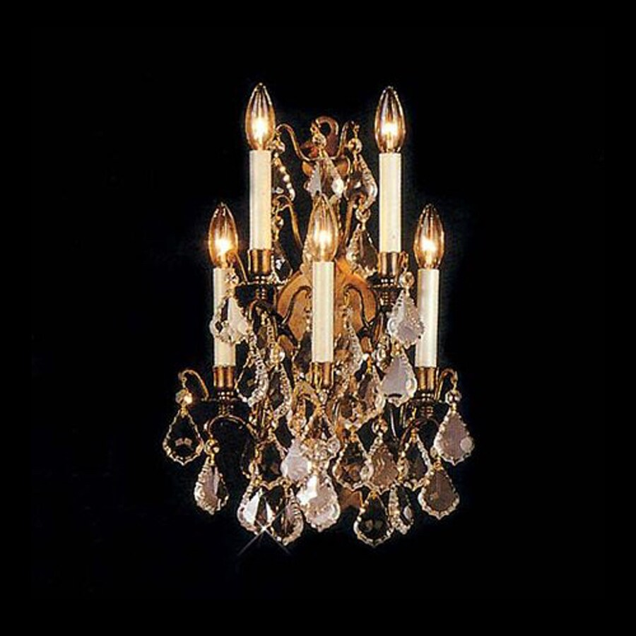 Weinstock Illuminations Versailles 14-in W 5-Light Antique Bronze Candle Hardwired Wall Sconce