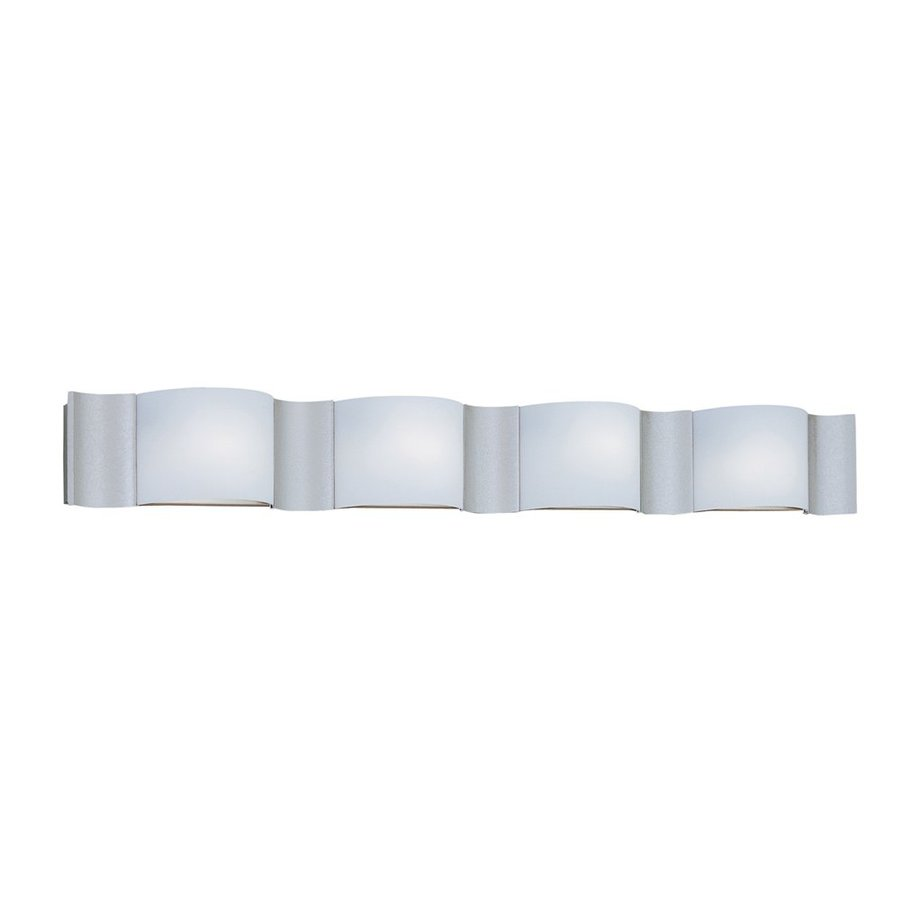 Designer's Fountain 4-Light Newave Silver Sand Bathroom Vanity Light