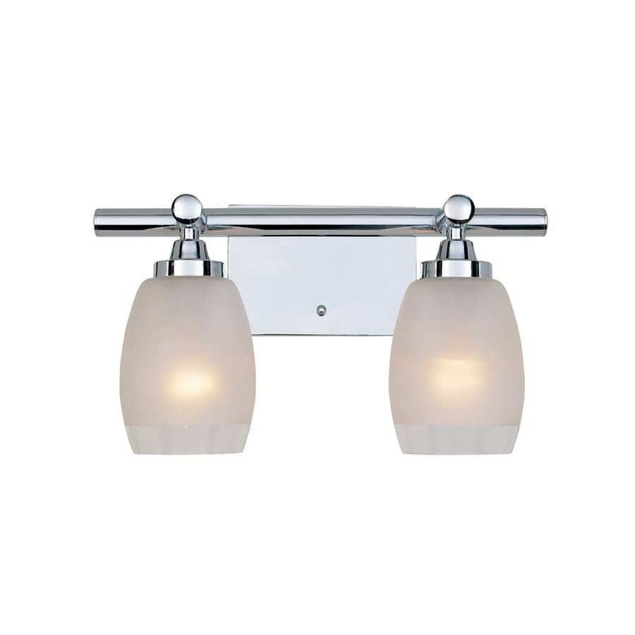 Shop Designer s Fountain 2-Light Astoria Chrome Bathroom Vanity Light at Lowes.com
