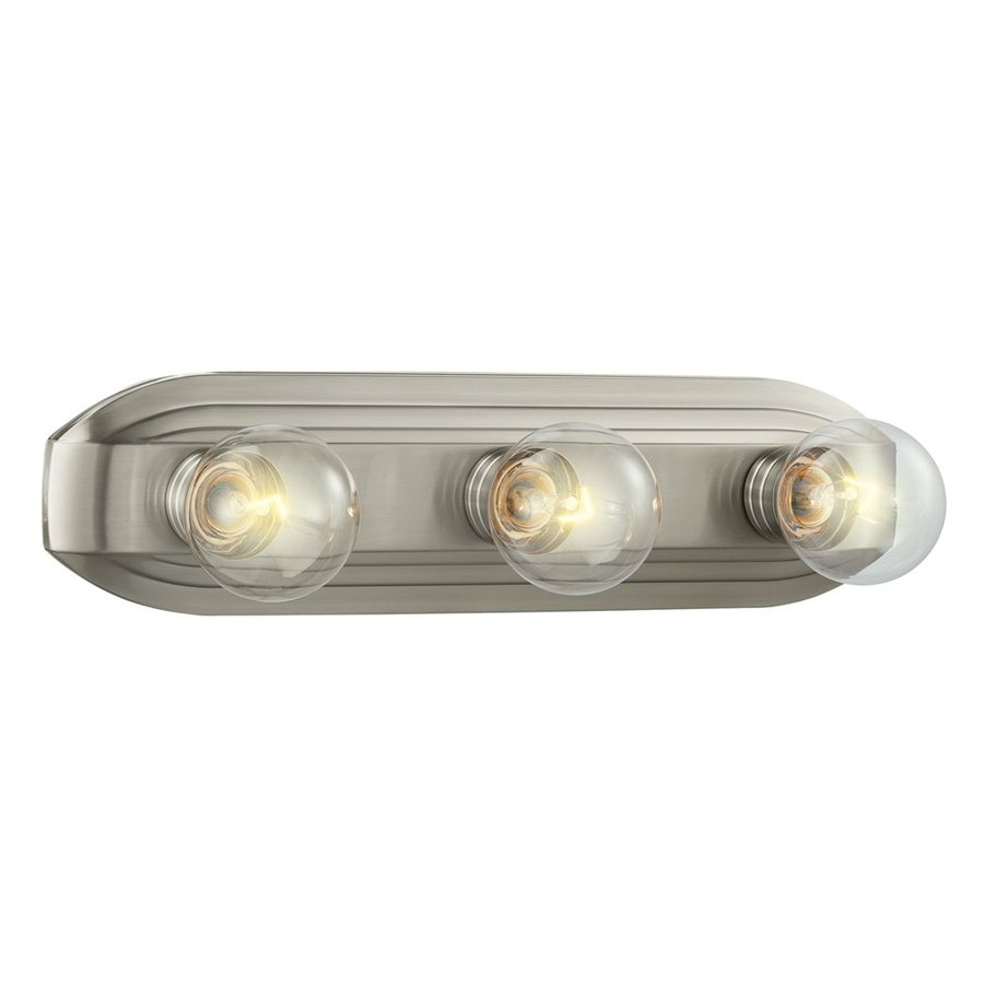 Designer's Fountain 3-Light Brushed Nickel Bathroom Vanity Light