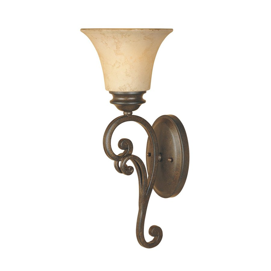 Designer's Fountain Mendocino 7-in W 1-Light Forged Sienna Arm Wall Sconce