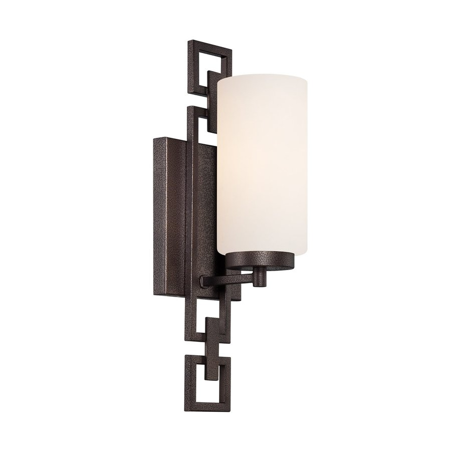 Designer's Fountain Del Ray 5-in W 1-Light Flemish Bronze Arm   Wall Sconce