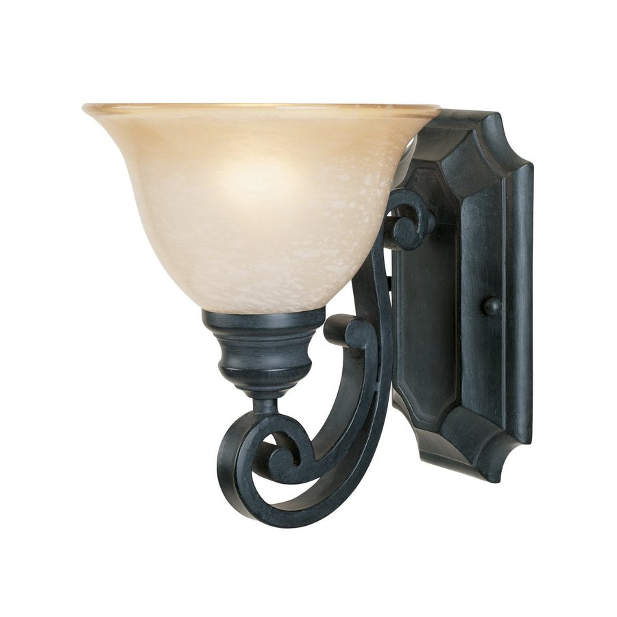 Designer's Fountain Barcelona 7.25-in W 1-Light Natural Iron Arm Wall Sconce