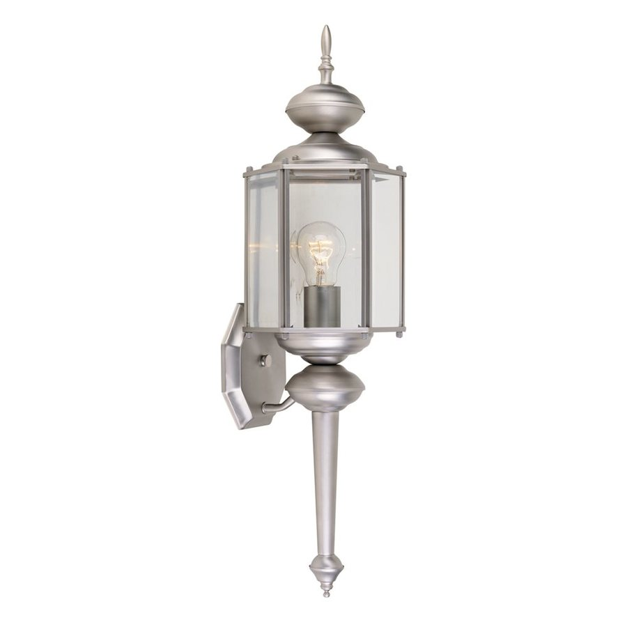 Designer's Fountain 24-in H Pewter Outdoor Wall Light