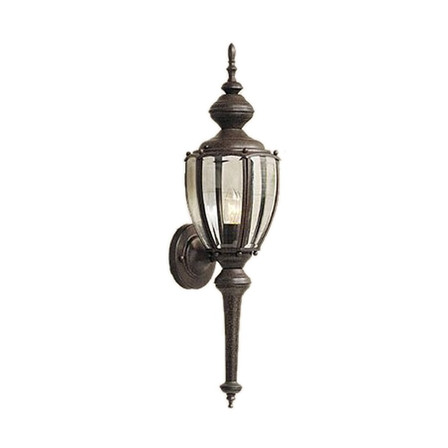 Designer's Fountain 25.5-in H Rust Patina Outdoor Wall Light