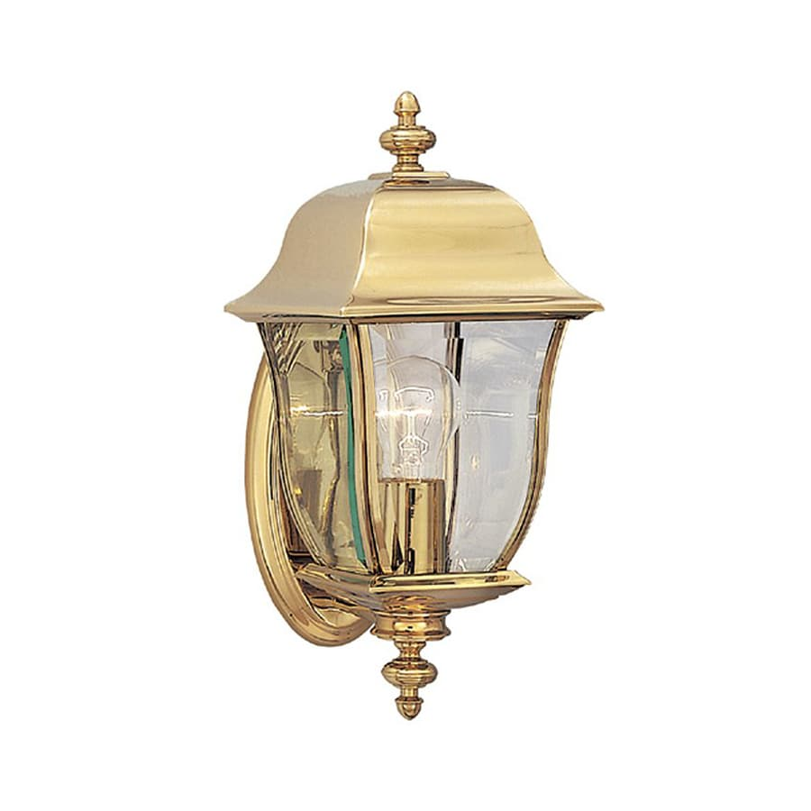 Shop Designer s Fountain Gladiator 14.75-in H Polished Brass Outdoor Wall Light at Lowes.com