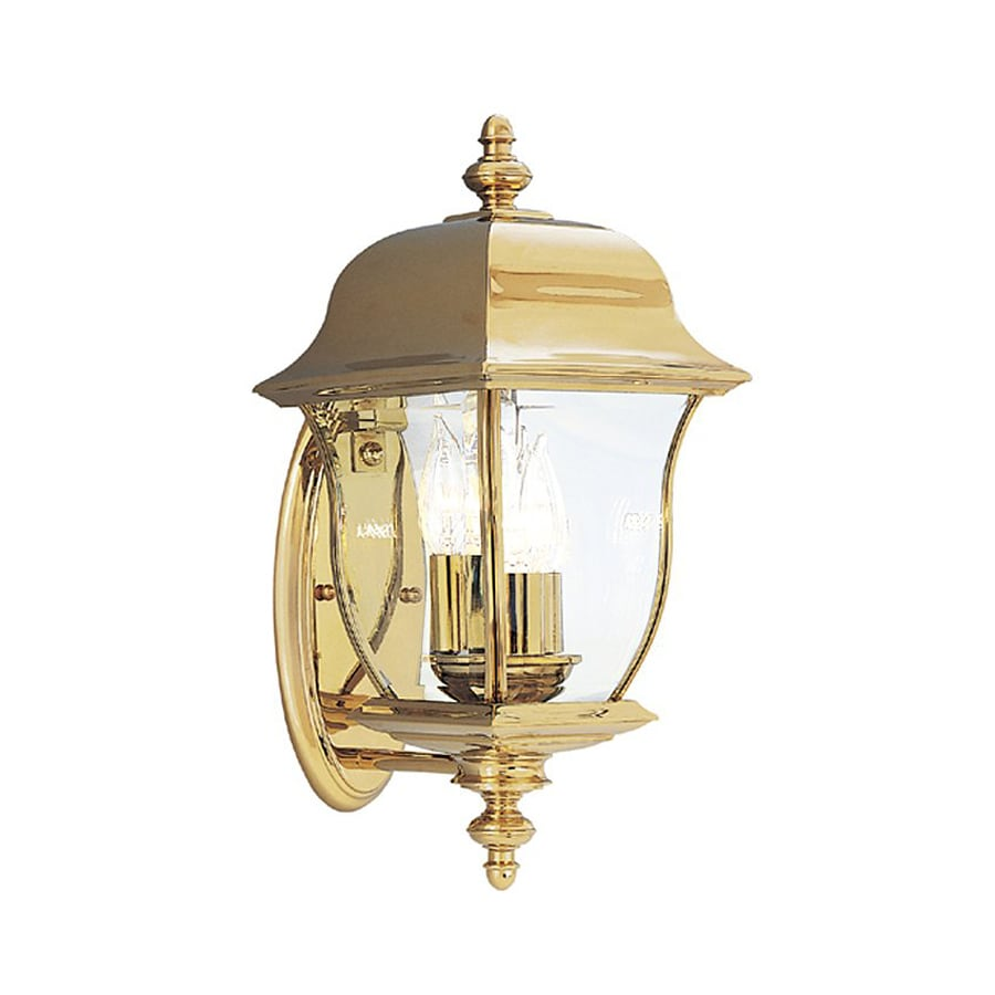 Designer's Fountain Gladiator 17.5-in H Polished Brass Outdoor Wall Light