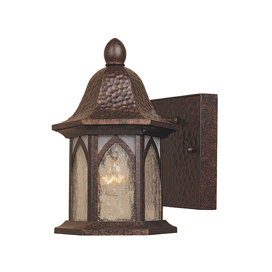 Designer's Fountain Berkshire 8.5-in H Burnished Antique Copper Outdoor Wall Light