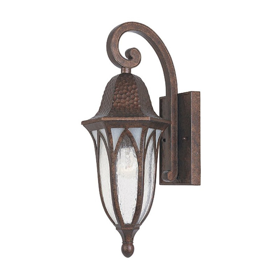 Designer's Fountain Berkshire 18-in H Burnished Antique Copper Outdoor Wall Light