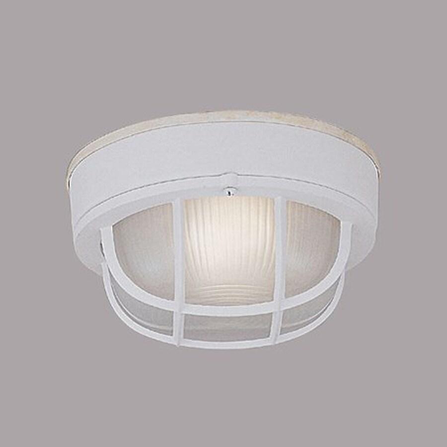 Designer's Fountain Marine Style Lanterns 7-in W White Outdoor Flush-Mount Light