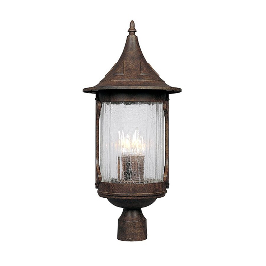 Designer's Fountain Canyon Lake 24-in H Chestnut Post Light
