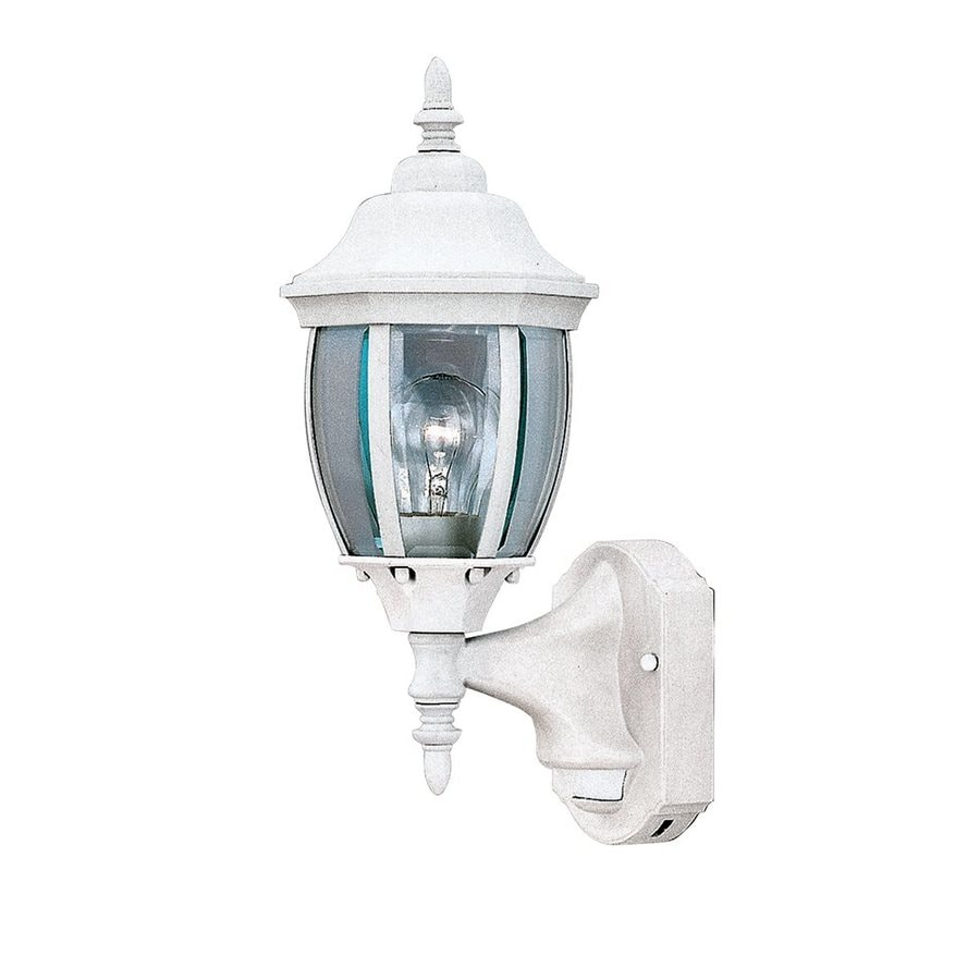 motion detectors h white outdoor wall light at. Black Bedroom Furniture Sets. Home Design Ideas