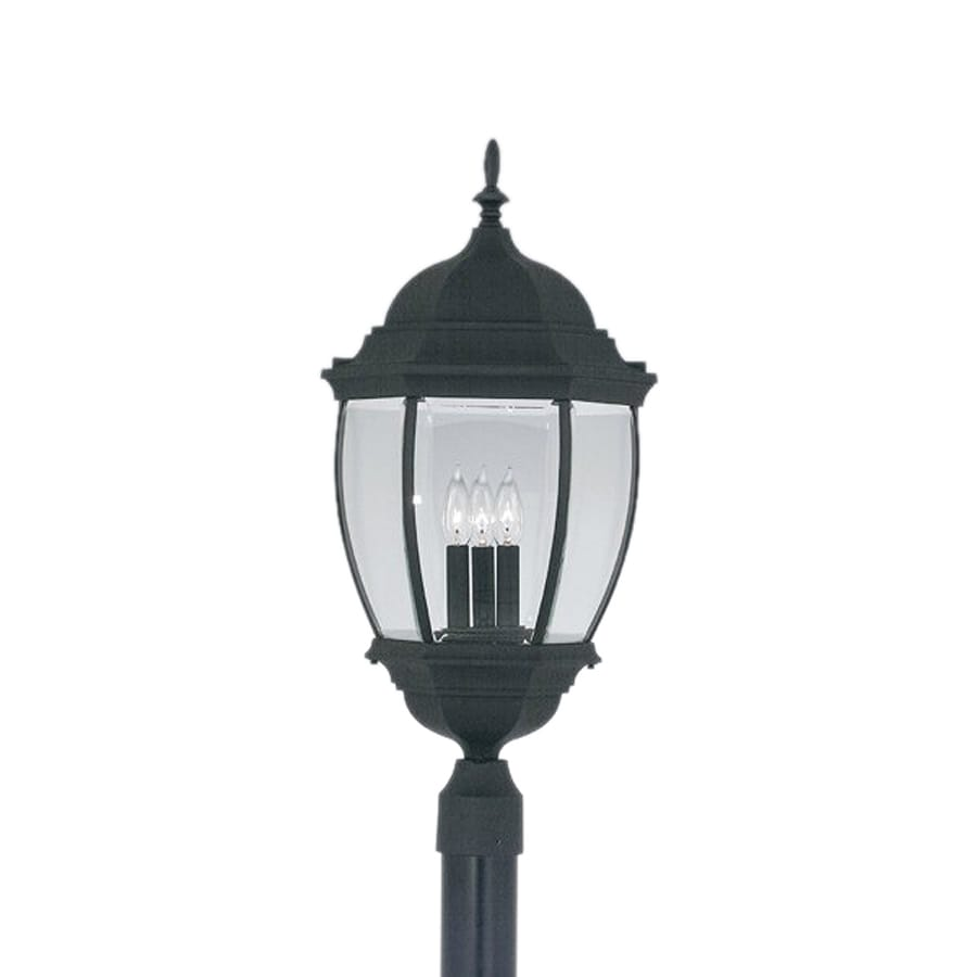 Designer's Fountain Tiverton 27.5-in H Black Post Light