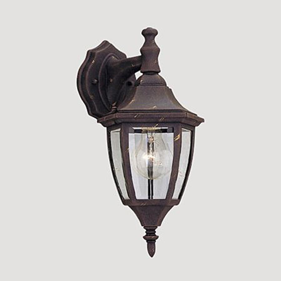 Designer's Fountain 14.25-in H Autumn Gold Outdoor Wall Light