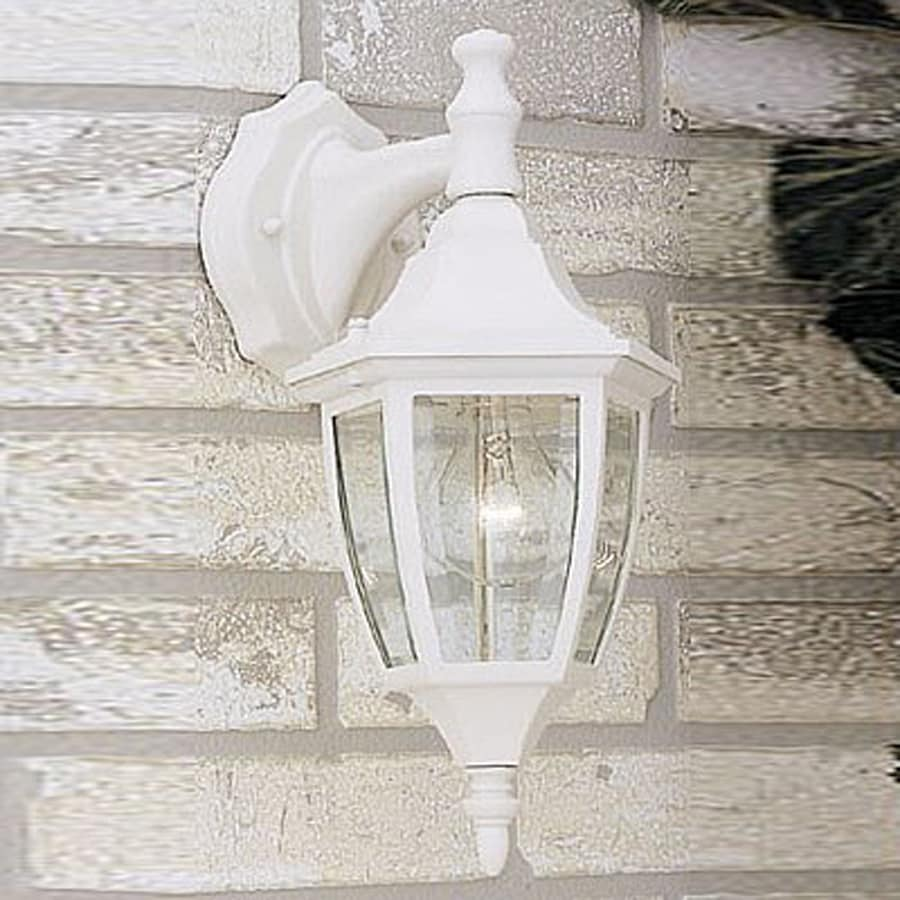 Designer's Fountain 14.25-in H White Outdoor Wall Light
