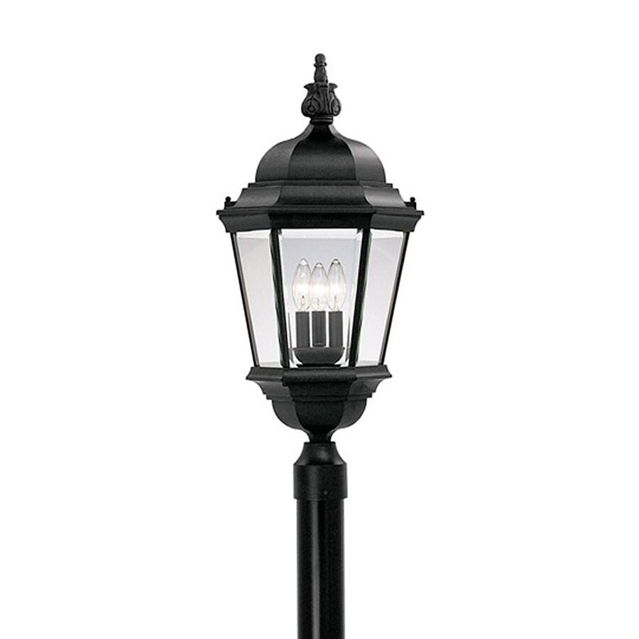 Designer's Fountain Abington 28-in H Black Post Light