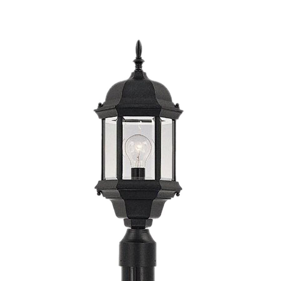 Designer's Fountain Devonshire 20-in H Black Post Light