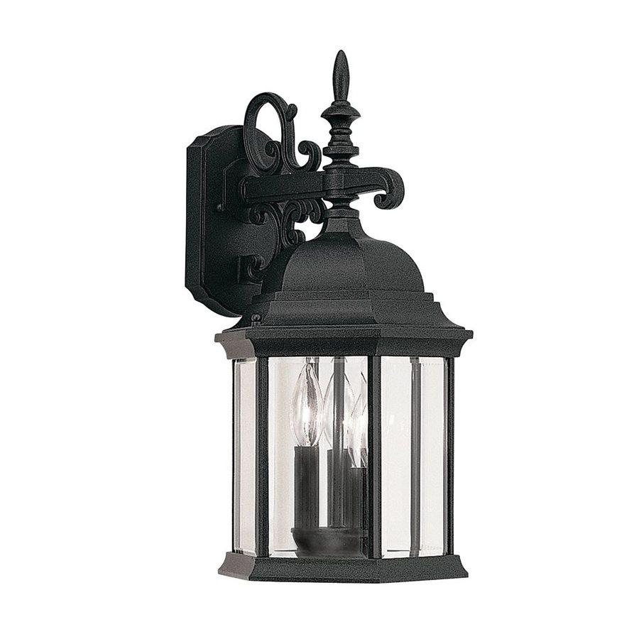 Designer's Fountain Devonshire 19-in H Black Outdoor Wall Light