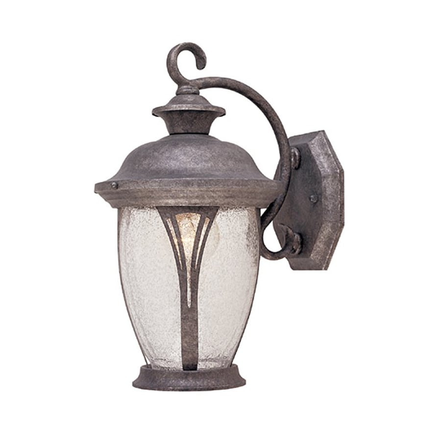 Designer's Fountain Westchester 12.75-in H Rustic Silver Outdoor Wall Light