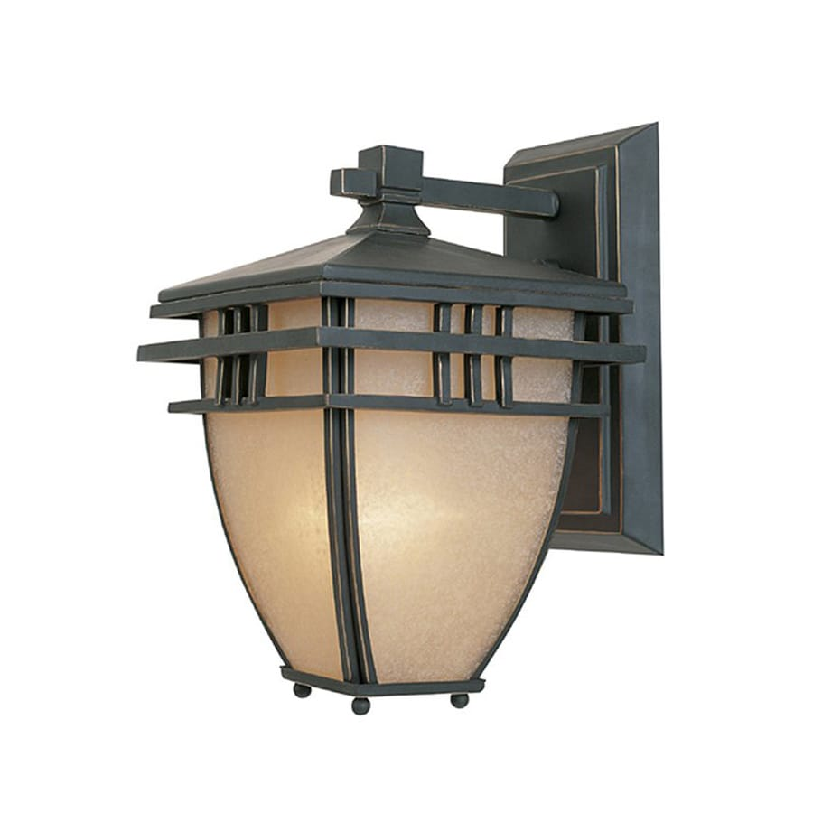 Designer's Fountain Dayton 10.75-in H Aged Bronze Patina Outdoor Wall Light