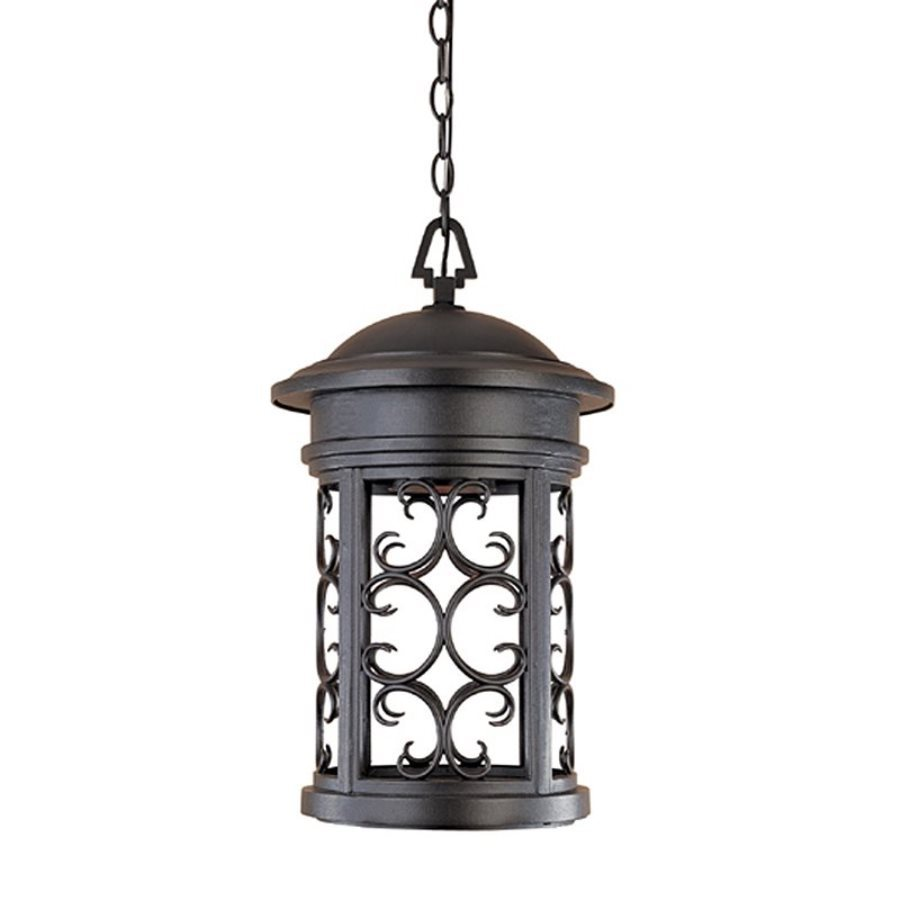 Designer's Fountain Ellington 19-in Oil Rubbed Bronze Hardwired Outdoor Pendant Light