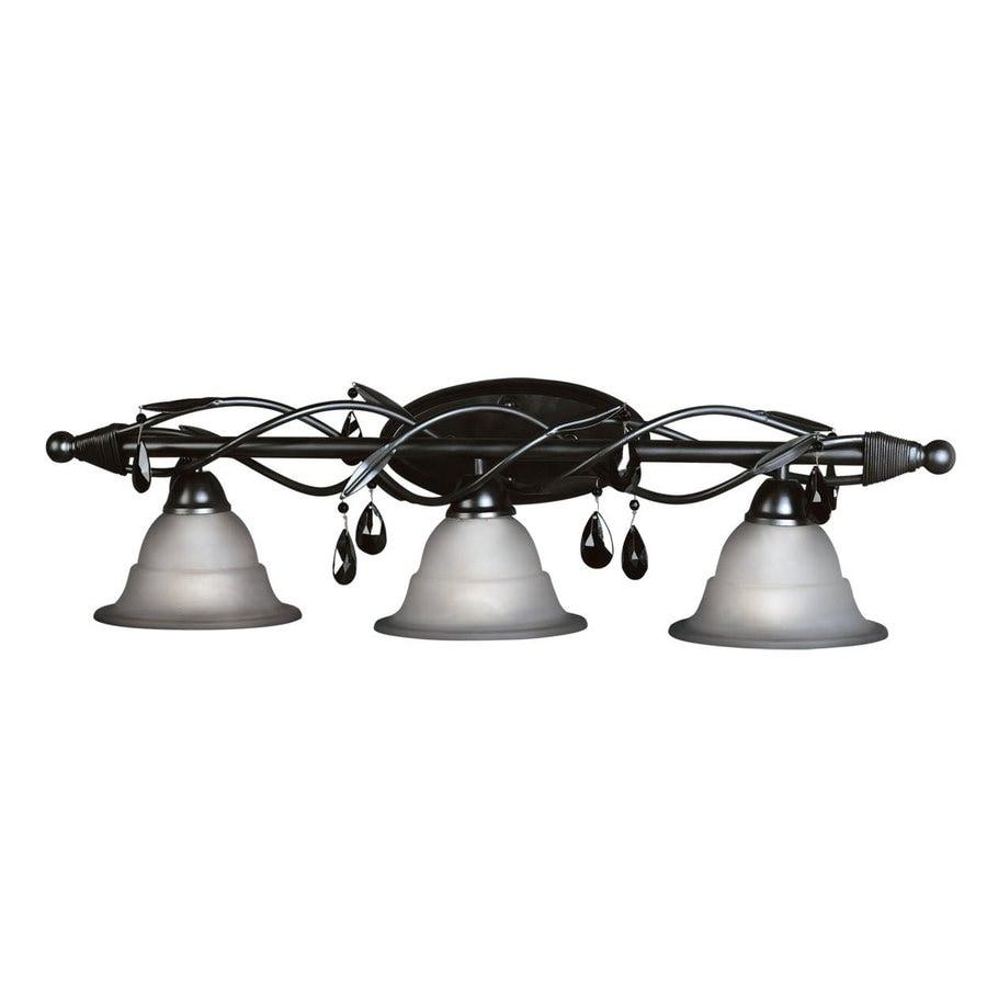 Woodbridge Lighting 3-Light Avigneau Matte Black Bathroom Vanity Light