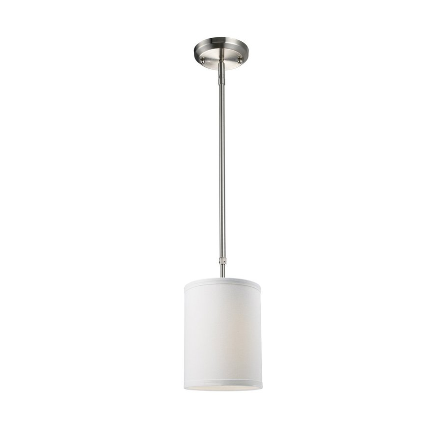 Z-Lite Albion 6-in Brushed Nickel Mini Cylinder Pendant