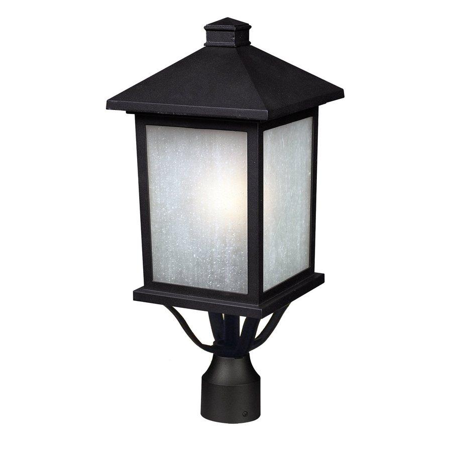 Z-Lite Holbrook 20-in H Black Post Light
