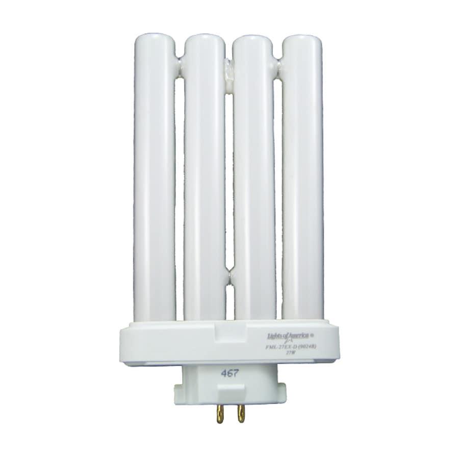 Lights of America 27-Watt (60W Equivalent) 6,500K Quad Tube 4-Pin Circline Daylight Outdoor CFL Bulb