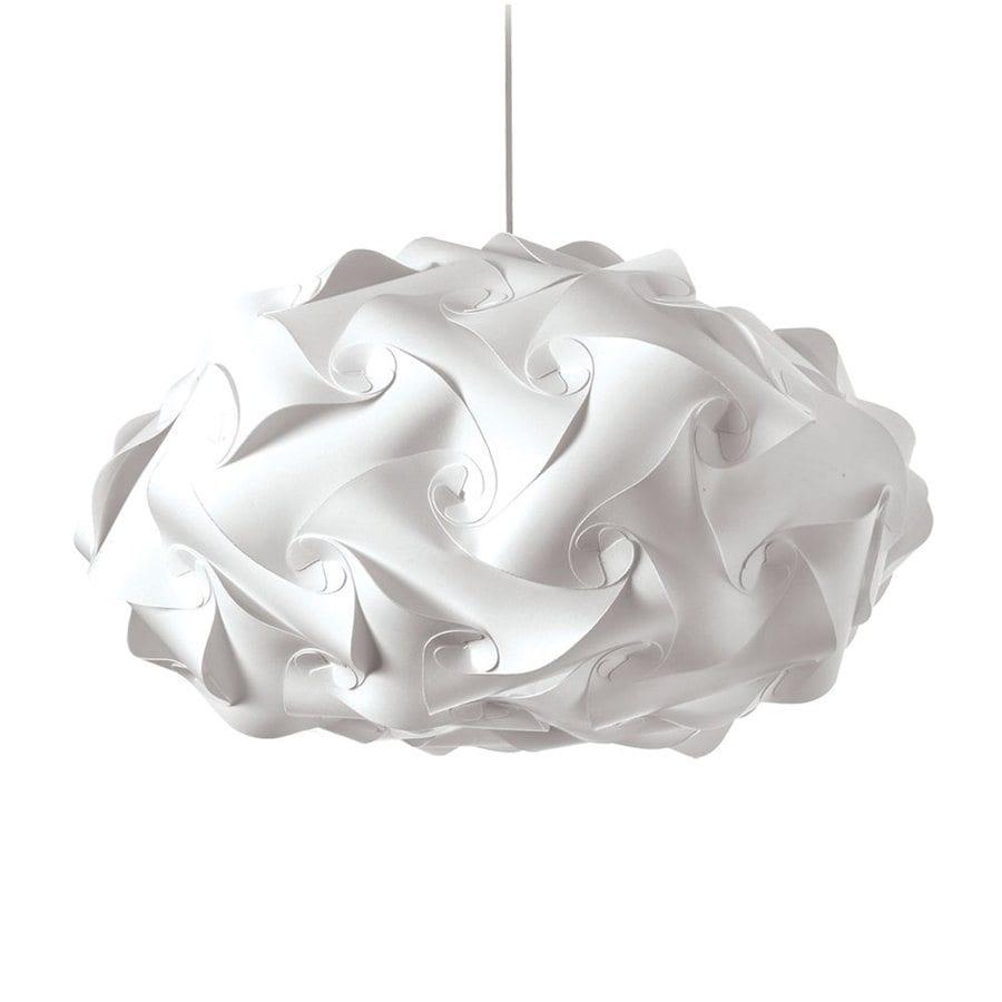 Dainolite Lighting Globus 25-in Satin Chrome Single Oval Pendant