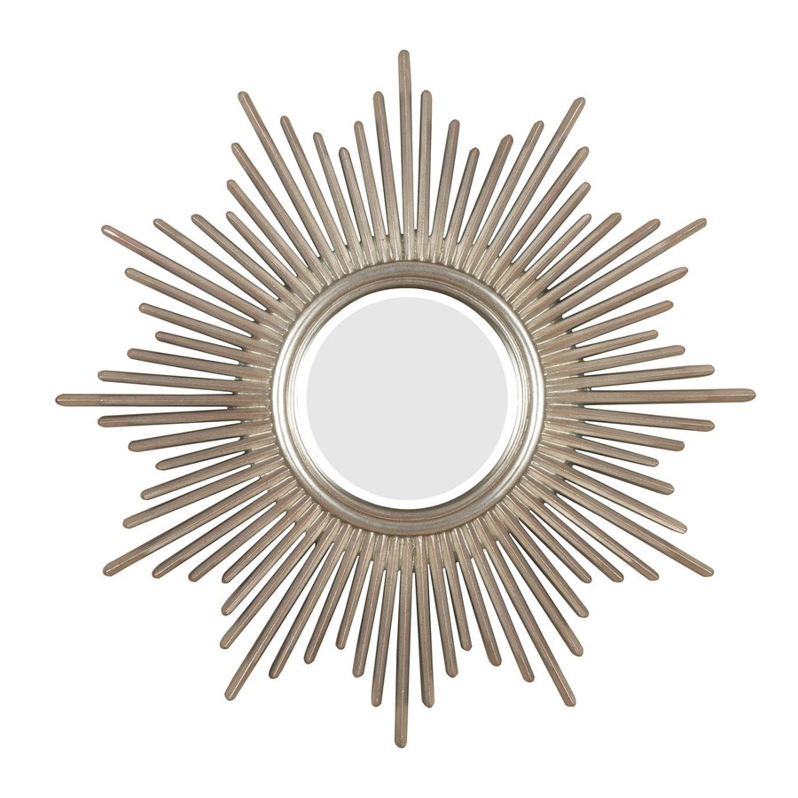 Shop kenroy home reyes 36 in x 36 in antique silver round Round framed mirror