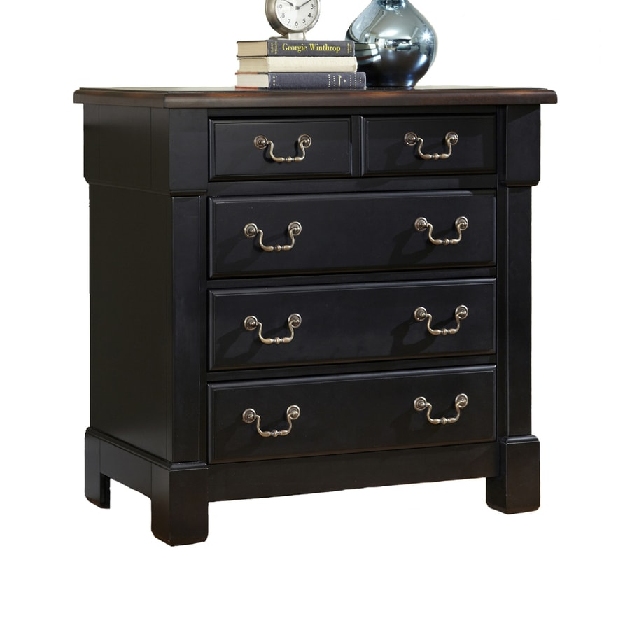 Home Styles Aspen Black/Rustic Cherry Standard Chest