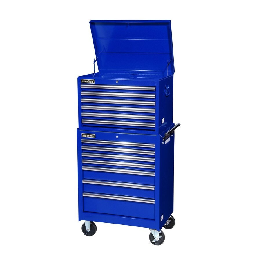 International Tool Storage 13-Drawer Ball-Bearing Steel Tool Cabinet (Blue)