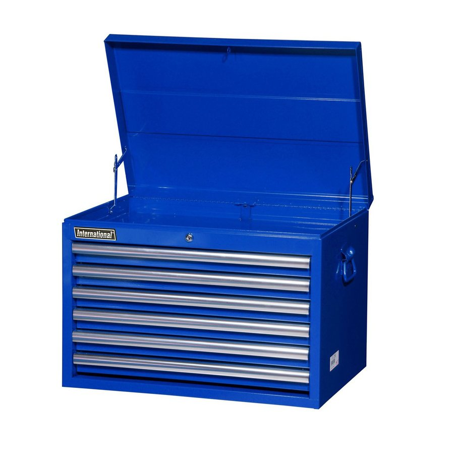 International Tool Storage Value 18.9375-in x 26-in 6-Drawer Ball-Bearing Steel Tool Chest (Blue)
