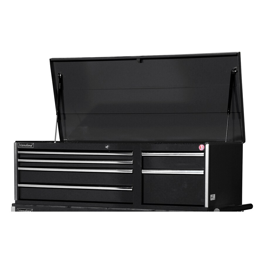 International Tool Storage Value 19.1-in x 55.5-in 6-Drawer Ball-Bearing Steel Tool Chest (Black)