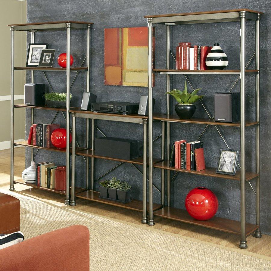 Home Styles 76-in H x 114-in W x 16-in D 10-Tier Steel Freestanding Shelving Unit